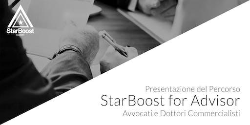 Presentazione StarBoost for Advisor:  Avvocati e Dottori Commercialisti