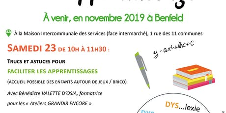 MOIS DE L'APPRENTISSAGE : Outils pour faciliter les apprentissages Tickets