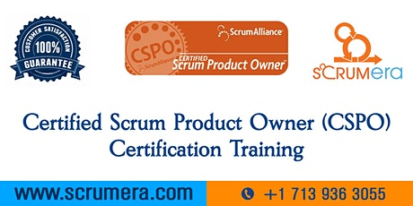 Certified Scrum Product Owner (CSPO) Certification   CSPO Training   CSPO Certification Workshop   Certified Scrum Product Owner (CSPO) Training in Ontario, CA   ScrumERA tickets
