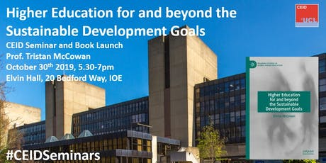CEID Seminar and Book Launch - Higher education for and beyond the SDG's tickets