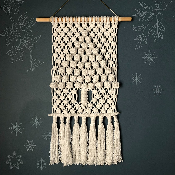 Seasonal Macrame Wall Hanging image