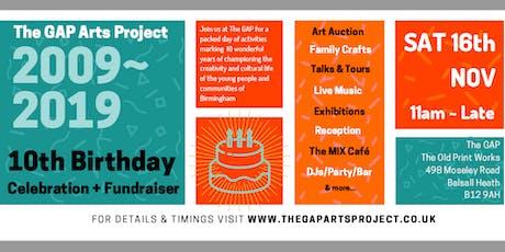 The GAP 10th Birthday Celebration +  Fundraiser tickets