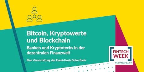Bitcoin, Kryptowerte und Blockchain Tickets