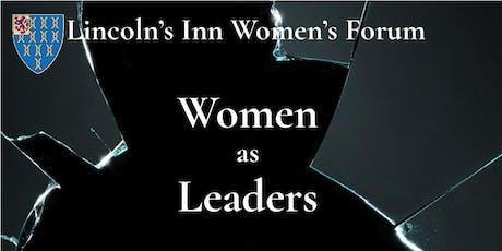 Women as Leaders tickets