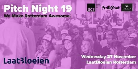 Awesome Foundation Rotterdam PITCH NIGHT 19 tickets