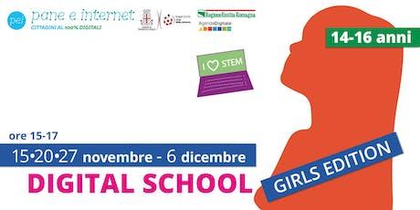 Digital School: corso di avvicinamento al coding per ragazze 14-16 anni biglietti