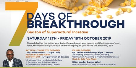 London Breakthrough Night - Season of Supernatural Increase tickets