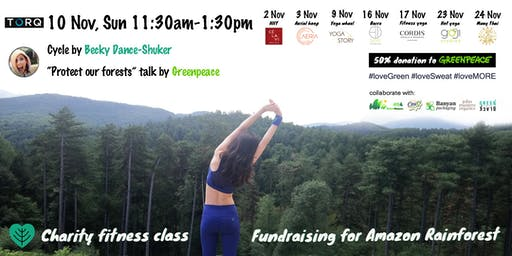 Charity fitness class *fundraising for Amazon Rainforest