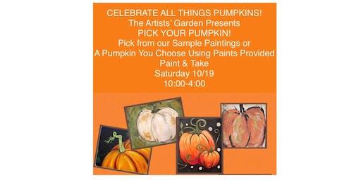 Paint & Take Pick Your Pumpkin!