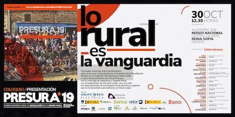 Presentación en el  auditorio 200 del Museo Reina Sofía  de PRESURA*19 entradas