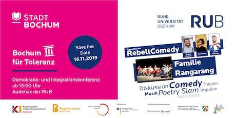 Bochum für Toleranz - Demokratie- und Integrationskonferenz 2019 tickets