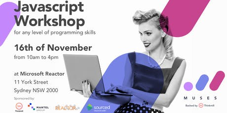 Muses Code JS: Intro to JavaScript for Beginners tickets