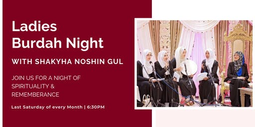 Ladies Burdah Night with Shaykha Noshin Gul (Sat 26th October | 6:30PM)