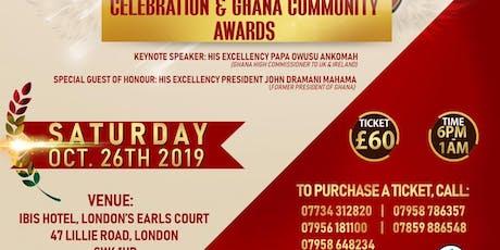 Ghana Union's 40th Anniversary & Awards Dinner Dance tickets