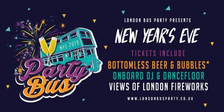New Years Eve Boozy Bus Party & London Fireworks tickets