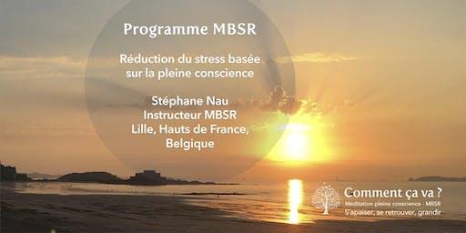Programme MBSR à Lille (France) - Janvier-Février 2020 avec Stéphane Nau