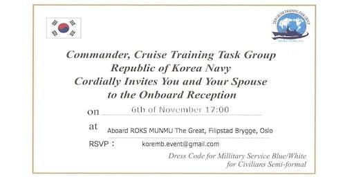 On-Board Reception aboard Naval Ship 'ROKS MUNMU The Great'