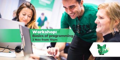 Workshop: Basics of programming tickets