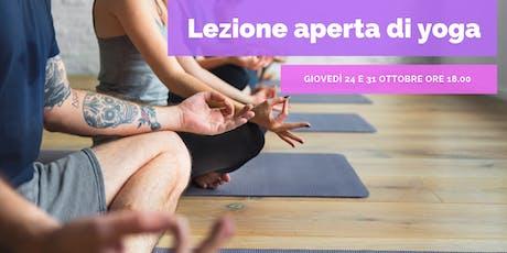 Lezione Aperta di Yoga a Prato biglietti