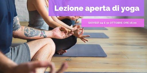 Lezione Aperta di Yoga a Prato