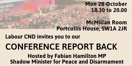 Labour CND conference report back tickets
