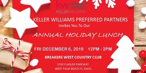 Keller Williams Preferred Partners Annual Holiday Lunch