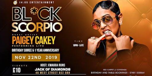 black scorpio 2.0 paigey cakey live in bristol