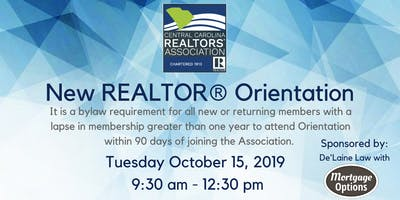New REALTOR® Orientation - November 12th