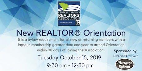 New REALTOR® Orientation - November 12th tickets
