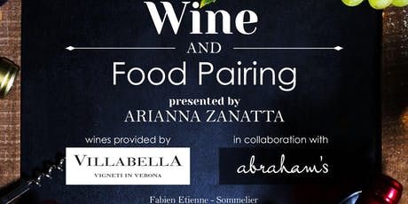 Wine and Food Pairing tickets