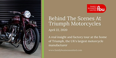 Behind The Scenes At Triumph Motorcycles tickets