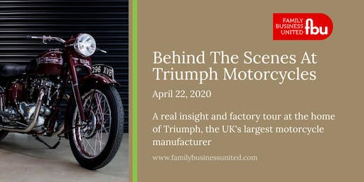 Behind The Scenes At Triumph Motorcycles