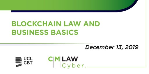 Blockchain Law and Business Basics