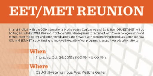 Mechanical Engineering Technology (MET) & Electrical Engineering Technology (EET) Reunion