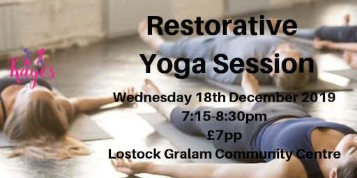 Christmas Restorative Yoga, Lostock Gralam