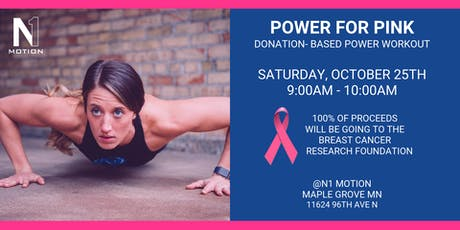 POWER FOR PINK: Breast Cancer Power Workout tickets