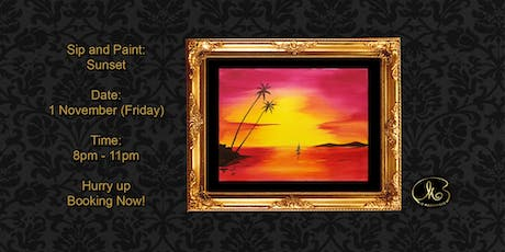Sip and Paint: Sunset tickets