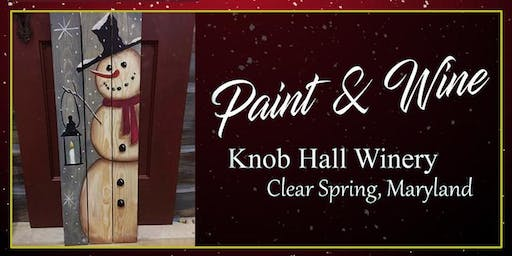 Knob Hall Winery Paint Event 4 ft Snowman