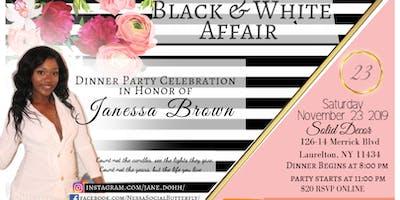 Janessa Brown's 23rd Birthday Dinner Party - Black & White Affair