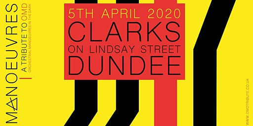 Manoeuvres - Tribute to OMD play Dundee for the first time. 3pm Early Show.