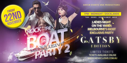 ROCK THE BOAT PARTY WITH MENXCLUSIVE