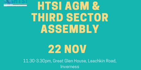 HTSI AGM and  Highland Third Sector Assembly tickets