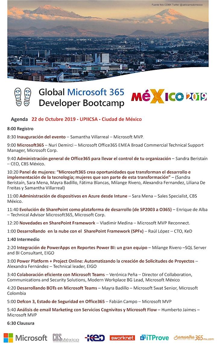 Global Microsoft 365 Developer Bootcamp 2019 CDMX image