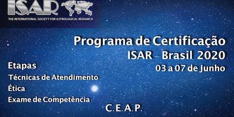 PROGRAMA DE CERTIFICAÇÃO ISAR ingressos