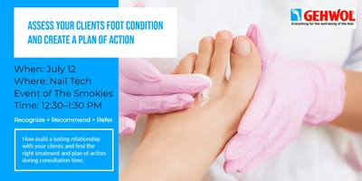 Assess Clients Foot Condition and Create a Plan of Action at the Nail Tech of the Smokies