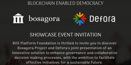 Bosagora Foundation - Blockchain & Democracy billets