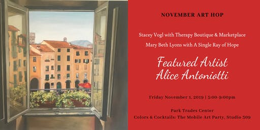 November Art Hop: Featuring Artist Alice Antoniotti & Vendor Pop Up!