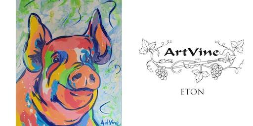 ArtVine, Sip and Paint in Eton, 27th November 2019