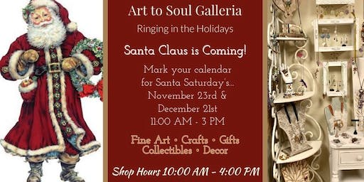 Art to Soul Galleria's Handmade Holiday Sale with Good Ole Saint Nick