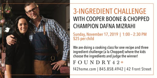 3-Ingredient Challenge with Cooper Boone and Chopped Champion Dafna Mizrahi